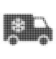 refrigerator car halftone dotted icon vector image