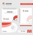 santa clause logo calendar template cd cover vector image vector image