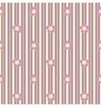Seamless floral pattern with vertical stripes vector image vector image