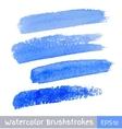 set blue watercolor brush strokes vector image vector image
