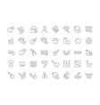 set line icons dentistry vector image