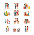 set of family differents activity vector image