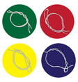 set of icons with fishing knots vector image