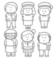 set of medical staff vector image