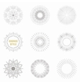 Set of vintage sunburst Geometric shapes and vector image vector image
