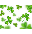 shamrock on white background with blurred effect vector image