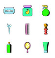shaving icons set cartoon style vector image vector image