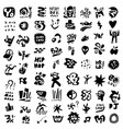 sign and symbol lettering objects - icon set vector image