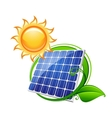 Solar panel or battery vector image vector image