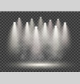 spotlights with smoke and scene transparent vector image