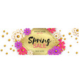 spring sale background banner with beautiful vector image vector image