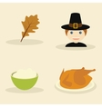 Thanksgiving objects vector image