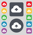 Upload from cloud icon sign A set of 12 colored vector image vector image