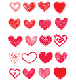 valentines day harts vector image vector image