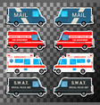 various city urban traffic vehicles vector image vector image