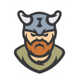 viking warrior cartoon vector image vector image