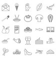 wedding reception icons set outline style vector image vector image
