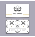 yoga trainer business card template vector image