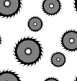 Circular saw blade seamless wallpaper vector image