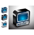 tv icon button television electronics vector image