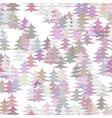 abstract random pine tree pattern background vector image vector image