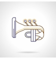 Abstract tuba flat line icon vector image vector image
