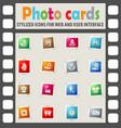 alternative energy icon set vector image vector image