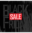 Black Friday Typography Black Friday Poster vector image vector image