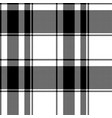 black white plaid seamless pixel pattern vector image vector image