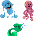 bright funny monsters for your design vector image vector image