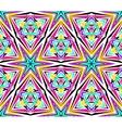 Bright Kaleidoscope Star Pattern vector image vector image