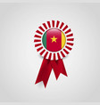 cameroon flag badge design vector image vector image