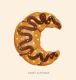 cartoon candy alphabet letter c vector image vector image