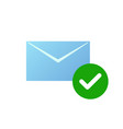 check message icon email symbol with green vector image vector image