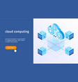 cloud computing banner 05 vector image vector image