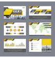 Company Presentation Templates Set vector image vector image