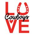 country love cowboy printable symbol text vector image vector image