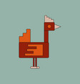 cute cartoon hen isolated on background vector image
