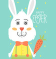 cute easter card vector image vector image