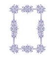 daisy flowers rectangle frame vector image vector image