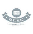 delivery quality logo simple gray style vector image