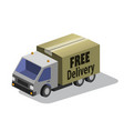 delivery truck with a box 3d flat vector image vector image