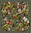 doodles cartoon set of diet food vector image vector image