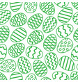 easter eggs green seamless pattern vector image vector image