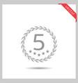 five stars icon vector image vector image