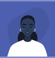 flat portrait a young millennial black vector image vector image