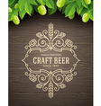 Flourishes beer emblem vector image vector image