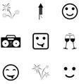 fun icon set vector image vector image