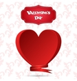 Gift card with a red heart tag and the inscription vector image vector image
