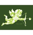 green and golden garden silhouettes vector image vector image